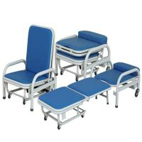 Buy cheap Medical Manual Foldable Accompanying Hospital Chair Stainless Steel Dining product