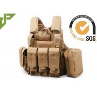 Buy cheap Khaki Polyester Military Tactical Plate Carrier Vest For Hunting / Shooting / Plate Carrier from wholesalers
