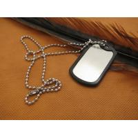 Buy cheap titanium dog tag pendant necklace titanium alloy dog tag with laser engraving from wholesalers