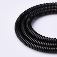 Buy cheap Split Flexible Conduit PP Tube , Flammability  UL94V-2  Black  Polypropylene  Corrugated Tube from wholesalers