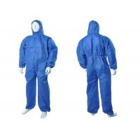 Buy cheap Chemical Resistant Disposable Hooded Coveralls , Flame Retardant Disposable Coveralls from wholesalers