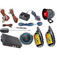 Buy cheap Two Way Car Alarm System With Start Stop Engine Button , Anti Robbery Auto Security Alarm Systems from wholesalers
