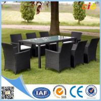 Buy cheap Handmade Wicker Dining Set 7pcs With Parasol Hole Outdoor Furnitures for Home product