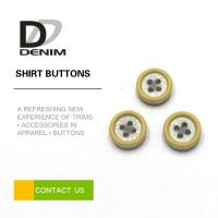 Buy cheap Resin Plastic Dress Shirt Buttons , Yellow Boy Or Girl Buttons 12L 14L 16L 18L from wholesalers