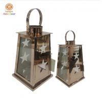 Buy cheap Home decor stainless steel lanterns with five pointed star hollow out from wholesalers
