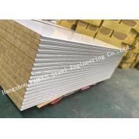Buy cheap Fst Construction Easy Installation Rock Wool Sandwich Panels Water Proof Wall Systems product