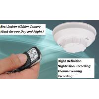 Buy cheap Smoke Detector Hidden Camera with Nightvision and Thermal Sensing Record product