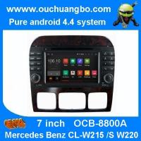Buy cheap Ouchuangbo Mercedes Benz W220  S550 S600 S350 S400 S280 audio dvd gps DVD android 4.4 OS from wholesalers