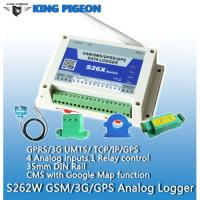 Buy cheap China supply data logger gsm temperature monitoring remote temperature humidity analog data logger S262(4AIN+1DOUT) from wholesalers