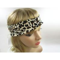 Buy cheap Fashion Leopard Girls Fabric Headband Rope Beige Brown Comfortable from wholesalers