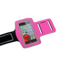 China Colorful GYM velcro jogging sports neoprene armband for iphone 5 with a pocket for car key on sale