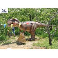 Buy cheap Eyes Blink Dinosaur Lawn Ornament , Life Size Animal Statues For Amusement Park from wholesalers