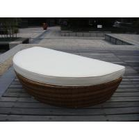 Buy cheap Half Round Outdoor Rattan Daybed With White Cushion And Pillow from wholesalers