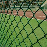 Buy cheap 9 Gauge Wire with 50mm Hole 6' x 50' PVC Diamond Chain Link Fence with Green Color from Wholesalers