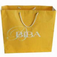 Buy cheap Promotional Paper Carrier Bags, Used for Packing Clothes, Gifts, Foods and Other Things  from wholesalers