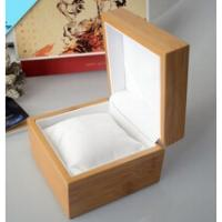 Buy cheap Natural wooden watch box with pillow inside wooden watch box wholesale from wholesalers