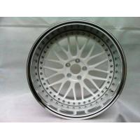 Buy cheap BC08/3 piece wheels for Toyota/deep dish wheels/polish outer lip/white wheels/custom rims from wholesalers
