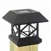 Buy cheap Solar Fence Post Cap Lights Solar Deck Lights Gate Posts Lamps Outdoor Square Solar Pillar Lights for Wooden Fence from wholesalers