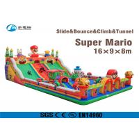Buy cheap Super Mario Inflatable Slide Fire Retardant Bouncy Castle With Slide from wholesalers