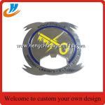 Buy cheap Custom challenge coin bottle opener, zinc alloy brass metal bottle open from wholesalers