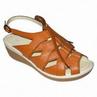 Buy cheap Ladies' Leather Casual Sandal with PU Outsole, Available in Various Colors from wholesalers