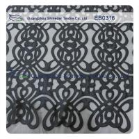 Buy cheap Eco - Friendly Customized Embroidered Fabric Lace Polyester Textiles 130cm Width from wholesalers