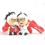 Buy cheap Custom 3D Figurine Key Ring Souvernir, Soft Touch PVC Key Ring Key Accessory from wholesalers