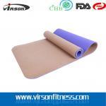 Buy cheap Ningbo virson New design hot selling CORK TPE yoga mat customized from wholesalers