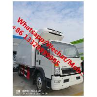 Buy cheap SINO TRUK HOWO 4*2 6 wheels light duty right hand drive howo refrigerated truck for sale, best price cold van truck, from wholesalers