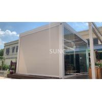 Buy cheap Wind Proof Zip Track Outdoor Blinds Motorized Folding Patio Screen For Garden from wholesalers