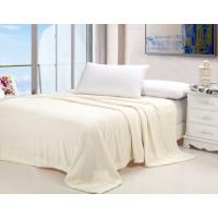 Buy cheap Plain Style Cozy Soft Flannel Bed Blanket Jacquard Anti - Pilling Multi Color Available from wholesalers