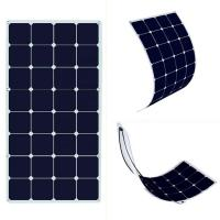 Buy cheap Photovoltaic Thin Flexible Solar Panels SunPower 12v-18V 100-120w Easy Installation from wholesalers