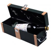 Buy cheap PU / PVC Custom Gift Boxes Leather Wine Anniversary Gift Carring Box from wholesalers