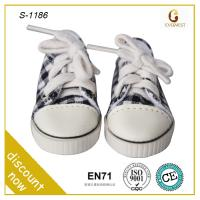 Buy cheap rubber sole sport tartan design doll shoes for wholesale from wholesalers