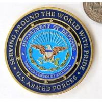 Buy cheap USA Department Military Challenge Coins Soft Enamel For Decorations Gold Plating from wholesalers