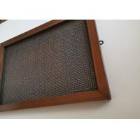 China Cable Rod Architectural Wire Mesh Fabric For Facade Cladding Or Room Divider on sale