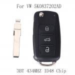 Buy cheap VW Volkswagen GOLF PASSAT Tiguan Polo Jetta Beetle Remote Key 434MHZ ID48 Chip Car Keyless 5K0 837 202AD 5K0837202AD from wholesalers