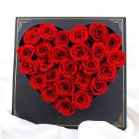 Buy cheap Forever Luxury Preserved Roses , Flower Heart Box For Wedding Gift from wholesalers