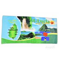 Plain Style Custom Printed Beach Towels For Gifts / Sports 350gsm