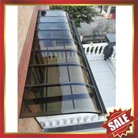 Buy cheap excellent waterproofing super durable metal aluminium aluminum alloy polycarbonate pc awning canopy shelter sunvisor from wholesalers