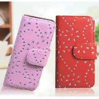 Buy cheap Fashion Colorful Diamond Leather Protective Cover for iPhone 5 5s from wholesalers