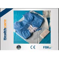 Buy cheap Biodegradable Disposable Surgical Gowns Medical Apparel With 4 Waist Belts Blue Color from wholesalers