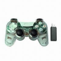 Buy cheap USB Wireless Joypad with Built-in Twin Motor, Supports Vibration Function from wholesalers