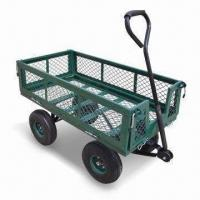 Buy cheap Garden Utility Cart with 500lbs Maximum Load Capacity and 10 x 3.5-inch Pneumatic 2-ply Tires product