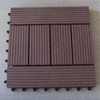 Buy cheap Brushed / Embossing Wood Patio Tiles , Patio Garden Floor Decking Tiles For Wall Decoration from wholesalers