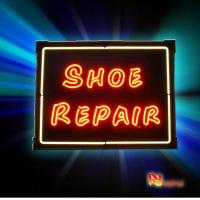 Buy cheap Customized and colorful orange / green Neon Sign Lights Shoe Repair from wholesalers