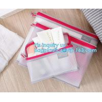 Buy cheap mesh zipper cosmetic bag make up custom high quality bags and cases shopping, Travel Toiletry Pouch Silver Mesh bag from wholesalers