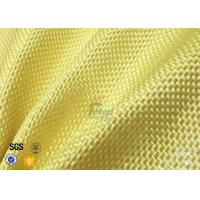 Buy cheap 1500D 305gsm Yellow Kevlar Aramid Fabric For Bulletproof Vest TDS Approval from wholesalers
