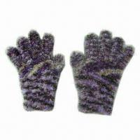 Buy cheap Women's Feather Yarns Magic Gloves with 20cm Length, Various Colors are Available from wholesalers