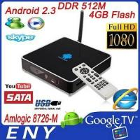 Buy cheap 2012 New HD 1080p Android System Google TV Box Internet TV+Android Market from wholesalers